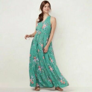 LC Lauren Conrad print maxi dress.